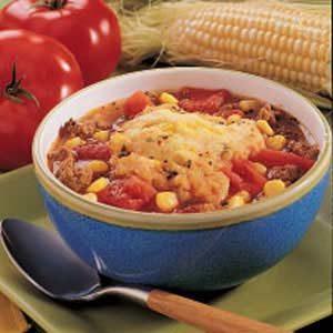 Corny Tomato Dumpling Soup