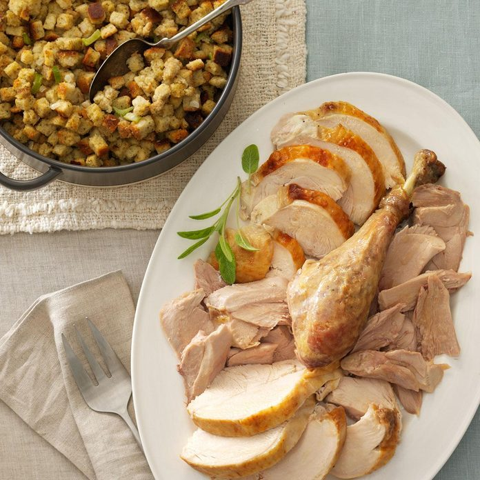 No-Fuss Herb-Roasted Turkey & Stuffing