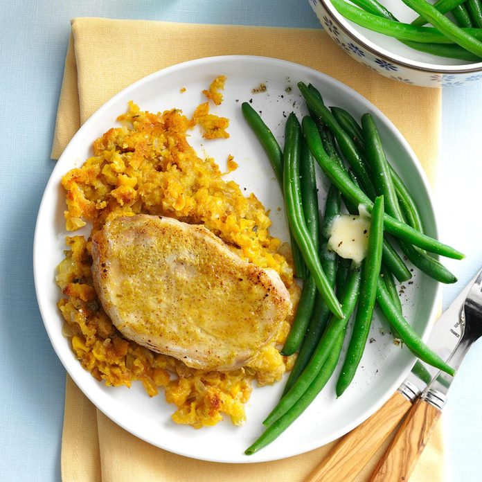 January: Golden Pork Chops