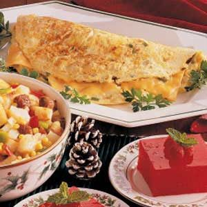 Hash Brown Cheese Omelet