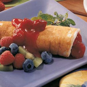 Fruit Pancake Roll-Ups