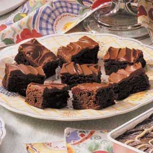 Glazed Chocolate Chip Brownies