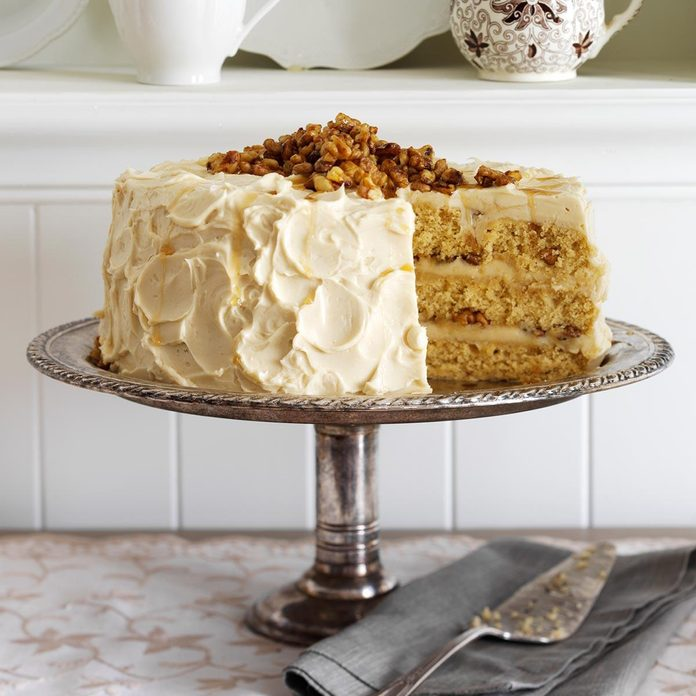 Inspired by the Frosted Walnut Cake Technical Challenge