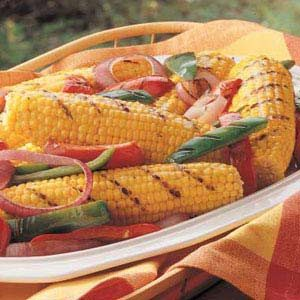 Grilled Corn and Peppers
