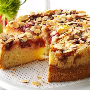 Cherry-Almond Coffee Cake