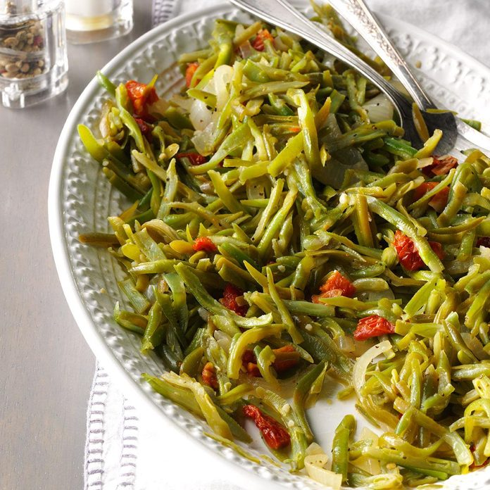 Zesty Garlic Green Beans