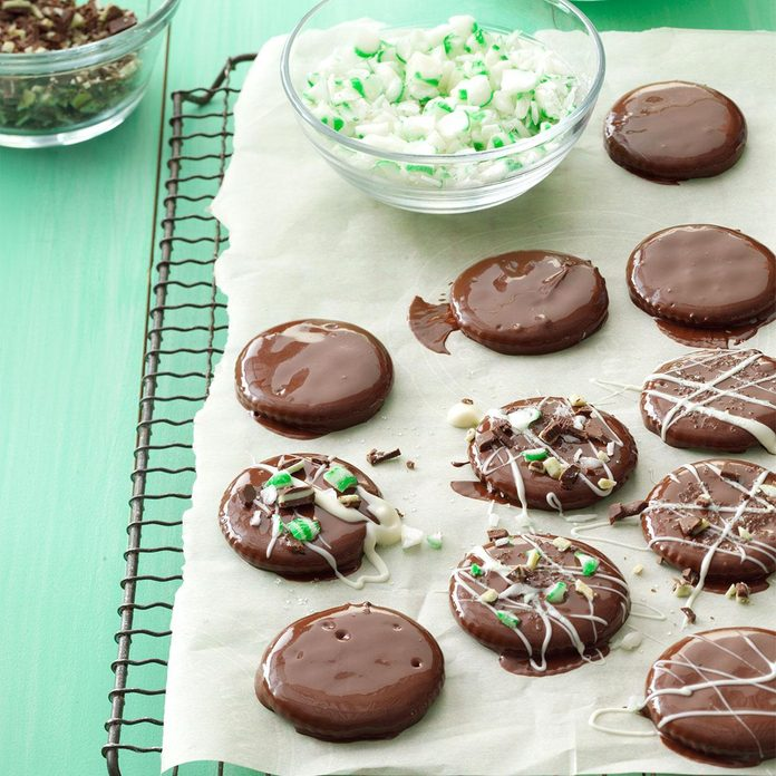 Inspired by: Keebler Grasshopper Mint & Fudge Cookies