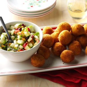 Turkey Croquettes with Cranberry Salsa