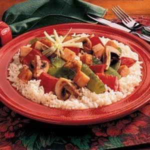 Mushroom and Turkey Stir-Fry