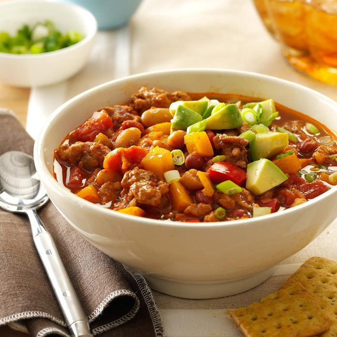 September: Slow Cooker Turkey Chili