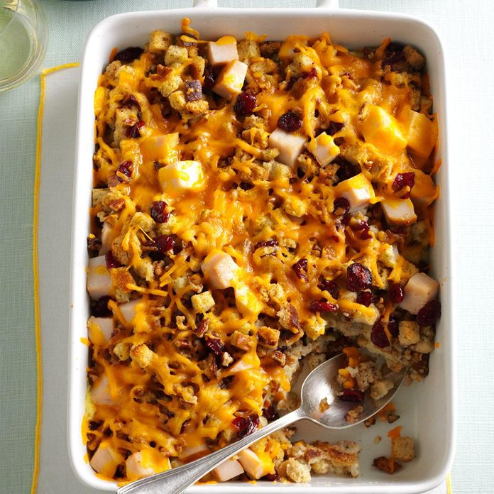 November: Stuffing & Turkey Casserole