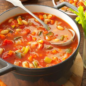 Bloody Mary Soup with Beans
