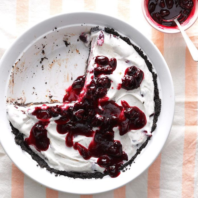 Cherry and Chocolate Ice Cream Pie