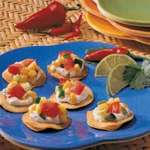 Corn Salsa Tostadas