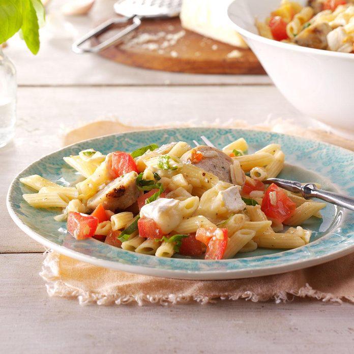 Summer Garden Pasta with Chicken Sausage