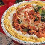 Turkey Spaghetti Pie