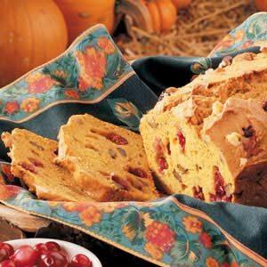 Pumpkin Cranberry Nut Bread
