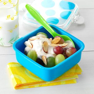 Grapes with Lemon-Honey Yogurt