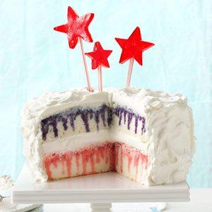 Red, White & Blueberry Poke Cake