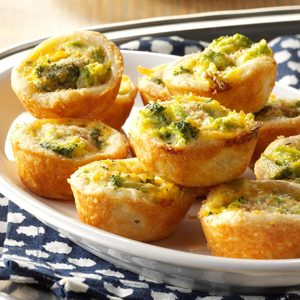Broccoli-Cheddar Tassies