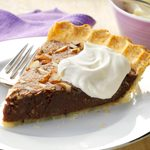 Chocolate Coconut Pie with Coconut Crust