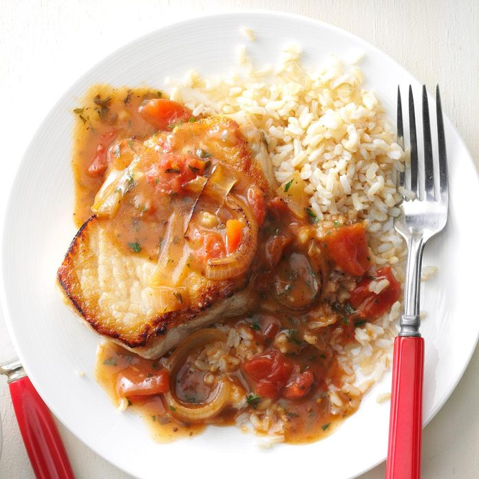 Saucy Pork Chop Skillet