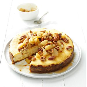 Honey Pear Cheesecake