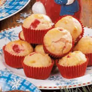 Cherry Vanilla Mini Muffins