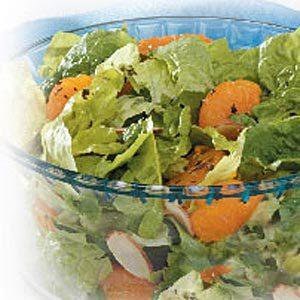 Orange Almond Romaine Salad