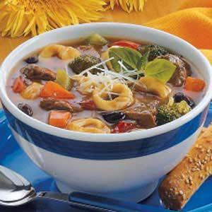 Beef 'n' Bean Tortellini Soup