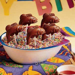 Chocolate Fish Lollipops