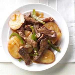 Pepper Steak with Potatoes