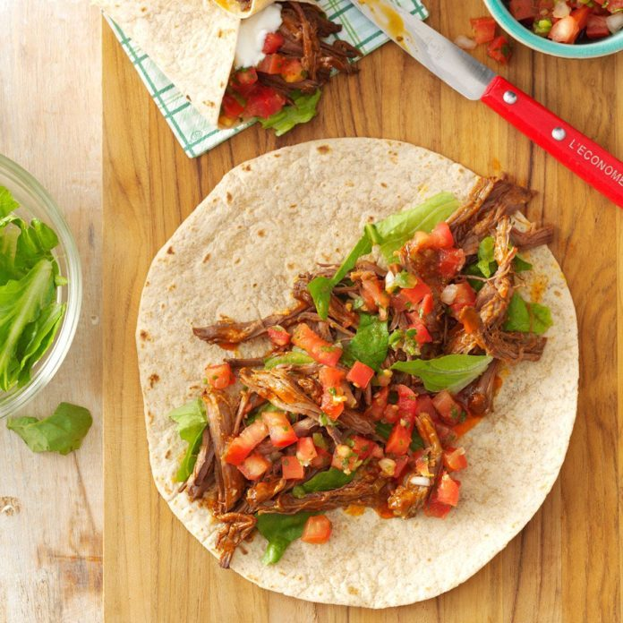 Mexican Shredded Beef Wraps