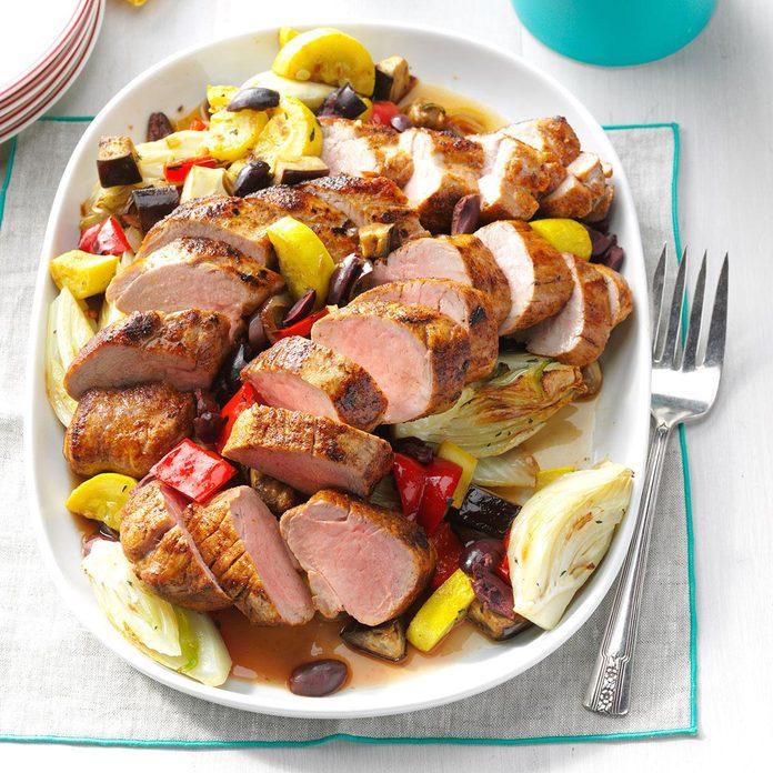 Creole Pork Tenderloin with Vegetables