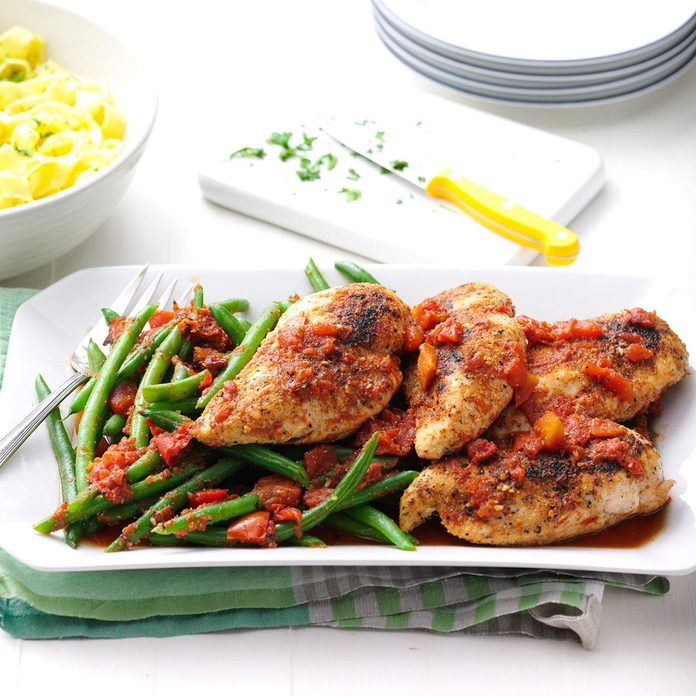Chicken with Fire-Roasted Tomatoes