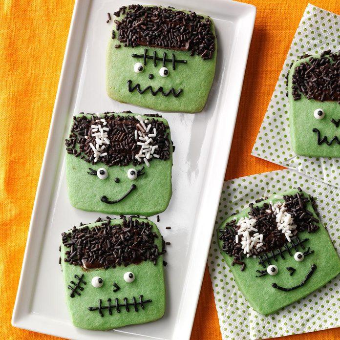 Spooky Snack: Freaky Frankenstein Cookies
