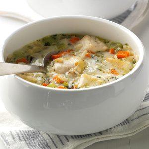 Quick Chicken & Wild Rice Soup