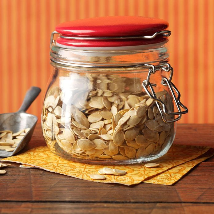 Roasted Fresh Pumpkin Seeds