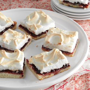 Raspberry-Chocolate Meringue Squares