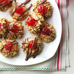 Chocolate-Covered Cherry Thumbprints