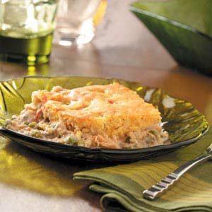 Cornbread-Topped Salmon