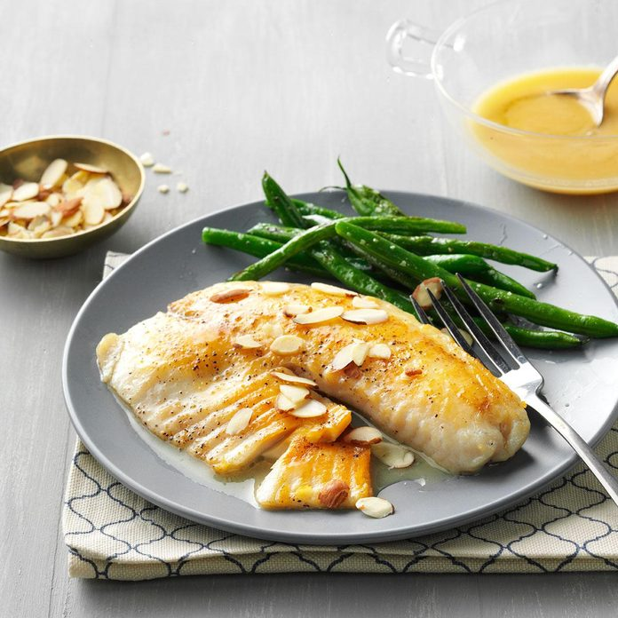 Lemon-Butter Tilapia with Almonds
