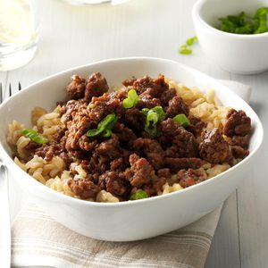 Korean Beef and Rice