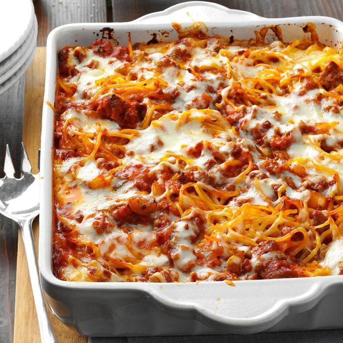 Mozzarella Baked Spaghetti