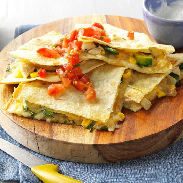 Chicken Verde Quesadillas