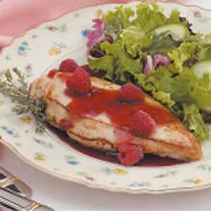 Chicken with Raspberry Thyme Sauce
