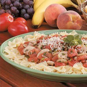 Tomato-Mushroom Bow Tie Pasta