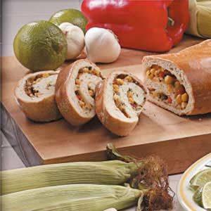 Herbed Vegetable Spiral Bread