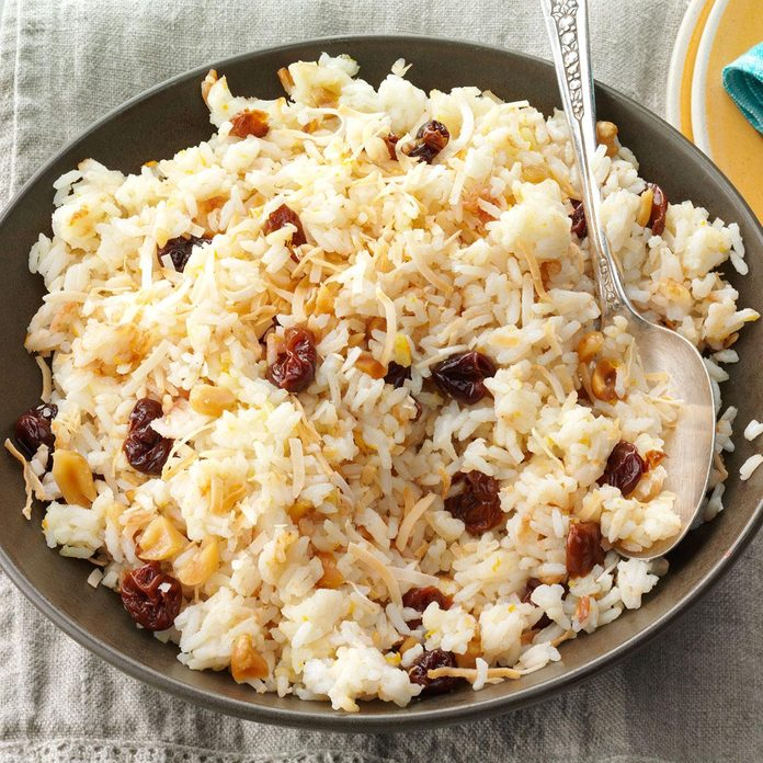 Jasmine Rice with Coconut & Cherries