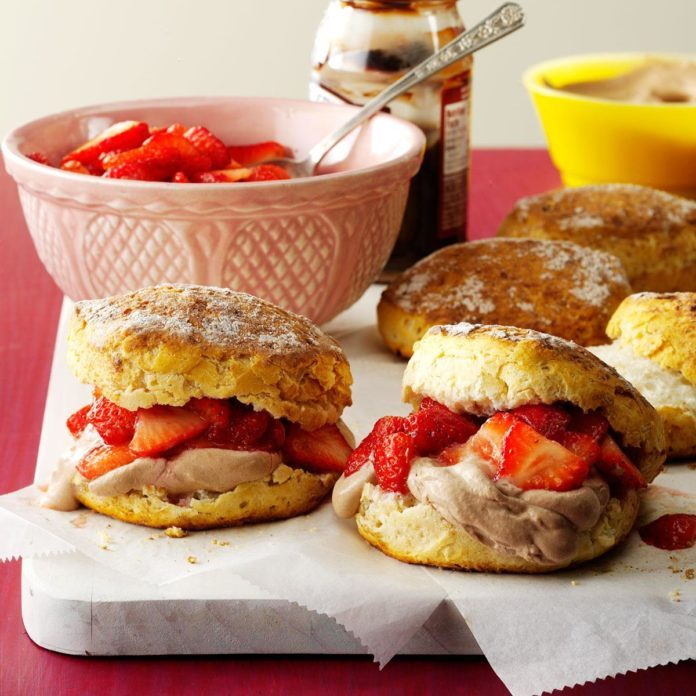 Chocolate Lover's Strawberry Shortcakes